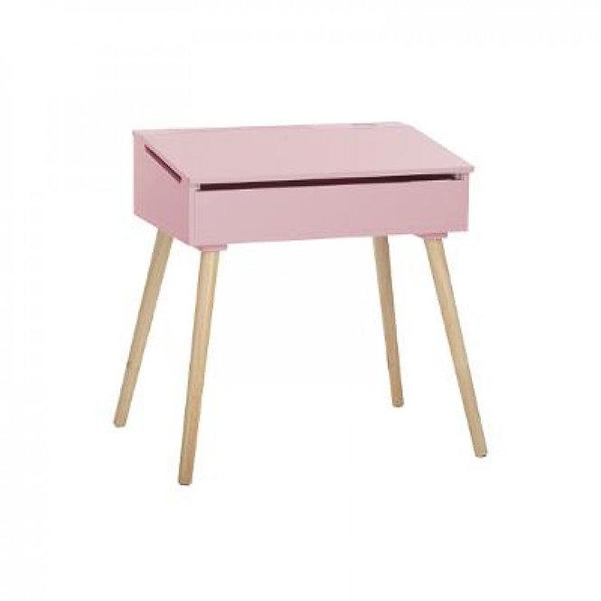 """Παιδικό Ξύλινο γραφείο """" ρόζ """"κωδ.J158695"""
