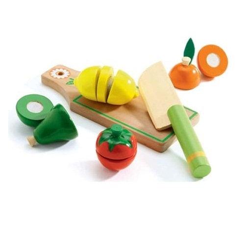 Ξύλινα Σετ κοπής λαχανικά και φρούτα Κωδ: T06526