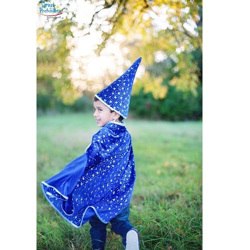 Κάπα Μπλε με καπέλο 'Μαγος' Κωδ.Τ 61083