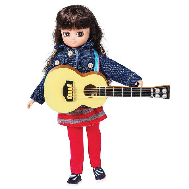 Κούκλα Βινύλιου' Κορίτσι με κιθάρα' 18εκ. Κωδ: 213275