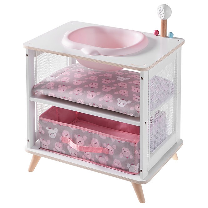 2 σε 1 Αλλαξιέρα & Μπανιέρα ροζ-λευκό κωδ.W2750