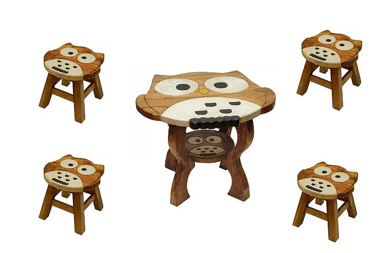 Ζωγραφιστό τραπέζι με 4 σκαμπώ Κωδ.ZN1112T12