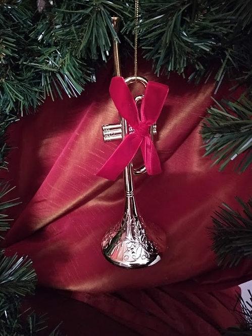 Κρεμαστό χριστουγεννιάτικο στολίδι τρομπέτα κωδ:L644