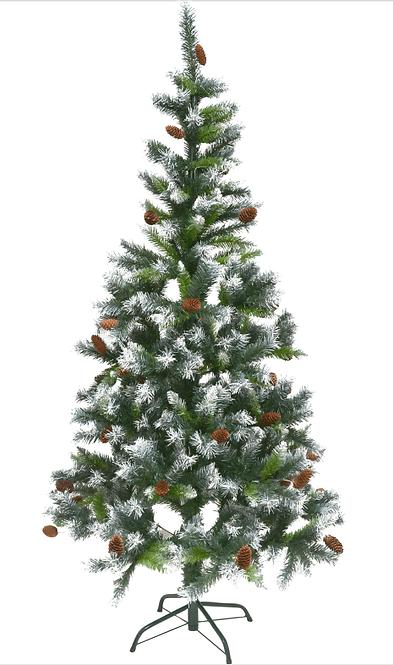 Δέντρο χιονισμένο με κουκουνάρι 2,10μ κωδ.Ε2480