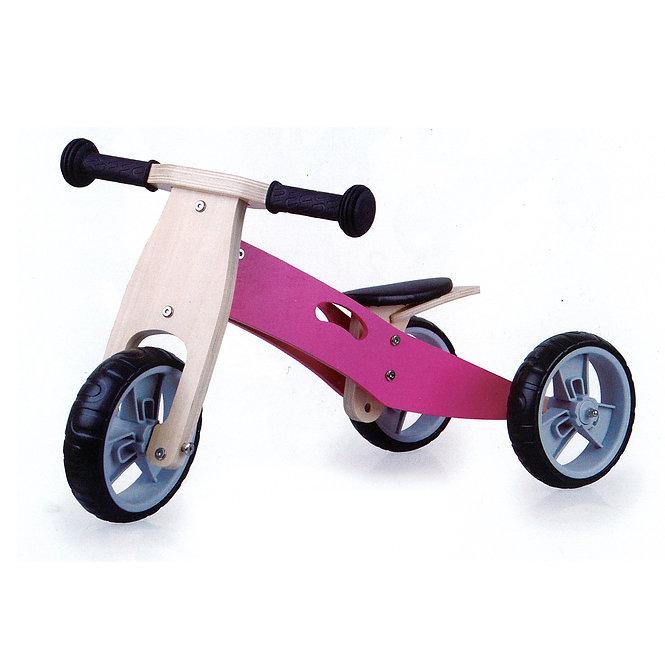 Ξύλινο Τρίκυκλο Ποδήλατο 'Ροζ' Κωδ:T8130134