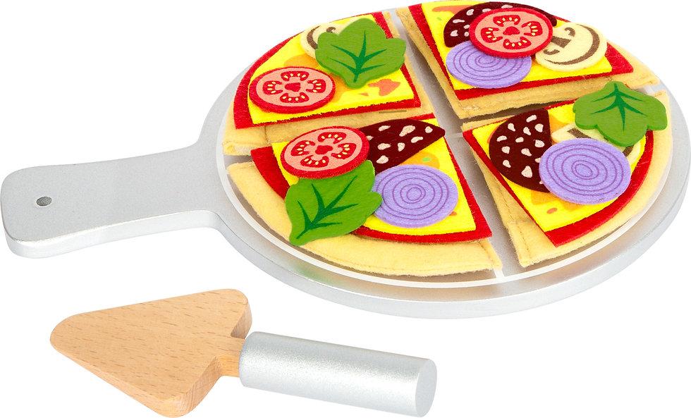 2+ Νέα υφασμάτινη πίτσα κοπής σε ξύλινη βάση κωδ.L11690
