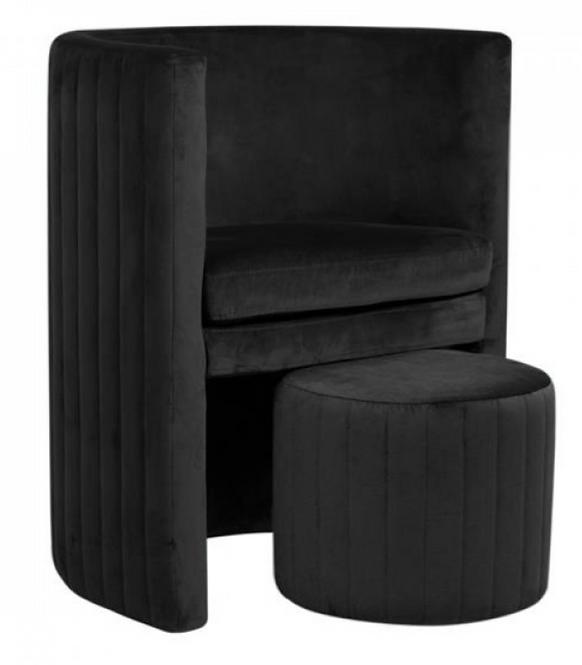 Design Κάθισμα Bελούδινο κινητό  κωδ.C6355