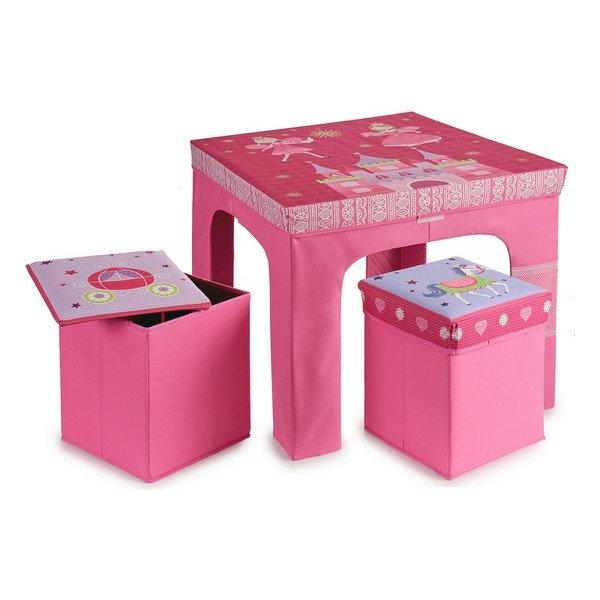 """Παιδικό Σέτ """"Τραπέζι Πριγκίπισσας με 2 σκαμπώ"""" κωδ.A20230"""