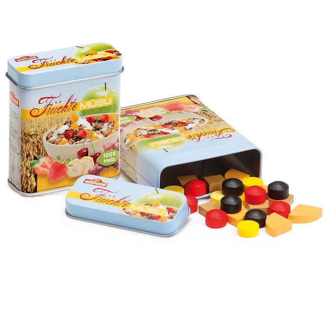 Δημητριακά σε μεταλλικό κουτί