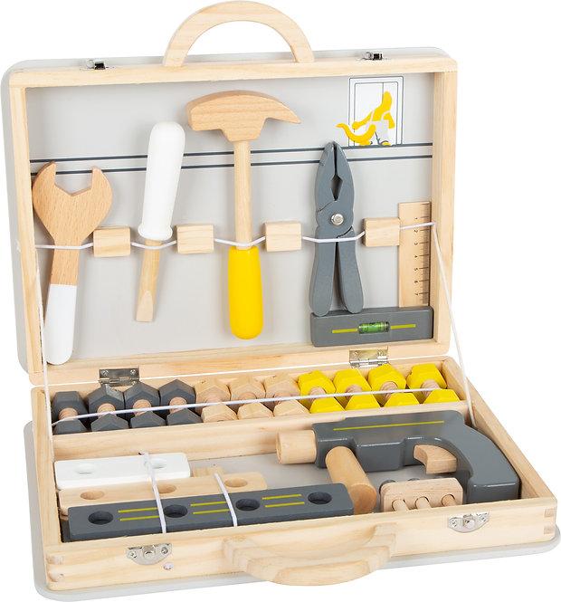 Εργαλειοθήκη για Ξυλουργείο , μασίφ ξύλο με πραγματικά εργαλεία Κωδ.L11808