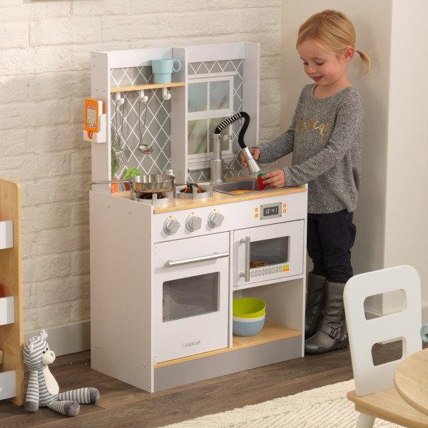 Let's Cook Play Kitchen με Φώτα και ήχο Κωδ.53395,ANTEN παιδικες κουζινες,παιχνίδια,κουζίνα kidkraft
