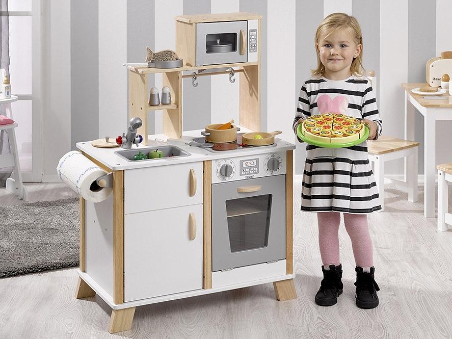 Κουζίνα ξύλινη με  φως και ήχο,παιδικες κουζινες,παιχνίδια,κουζίνα
