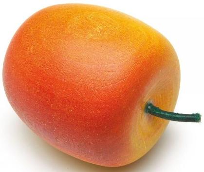 Ξύλινο μήλο κόκκινο-κίτρινο κωδ.11001