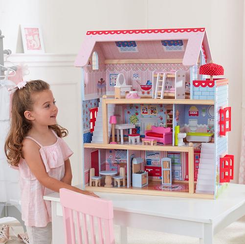 """Κουκλόσπιτο Kidkraft """"Chelsea Doll Cottage"""" Κωδ.65054"""