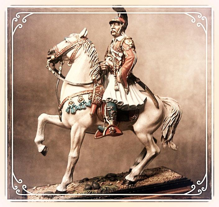 Θεόδωρος   Κολοκοτρώνης σε άσπρο άλογο κωδ.Η01822