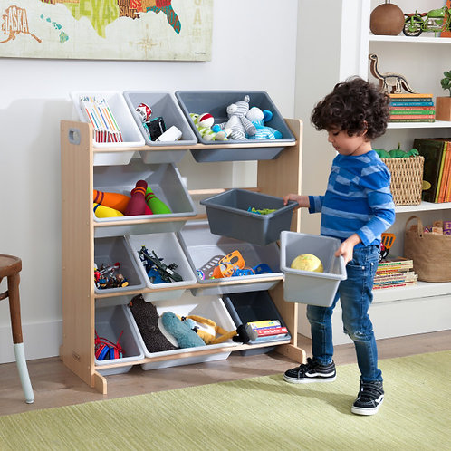 Sort It & Store it Bin Unit - Gray & Natural Κωδ.10041