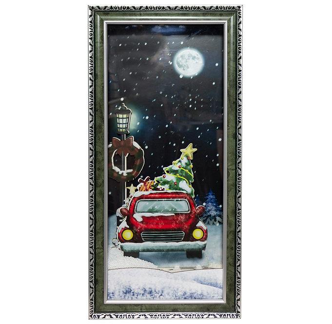 Πίνακας χιονίζει Χριστουγεννιάτικη διακόσμηση  79εκ.  κωδ.ZPM39293