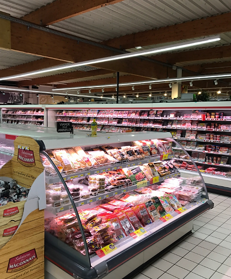 Blightsolution Ltd - linear led - chemin lumineux - supermarket-supermarche - France