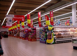 Blightsolution Ltd - linear led - chemin lumineux - supermarket-supermarche - Hungary