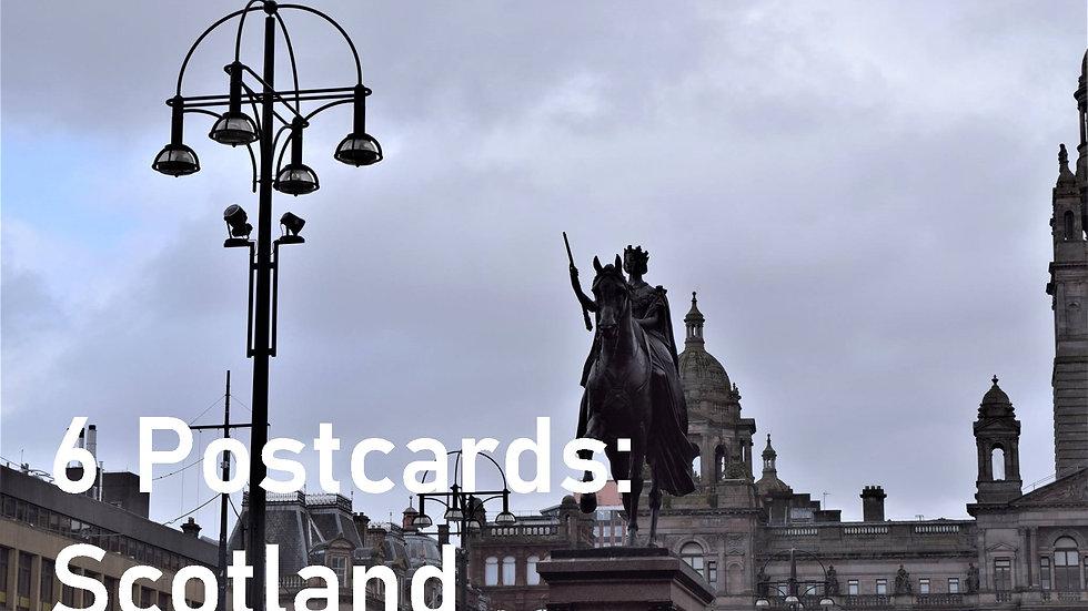 Set of 6 postcards: Scotland