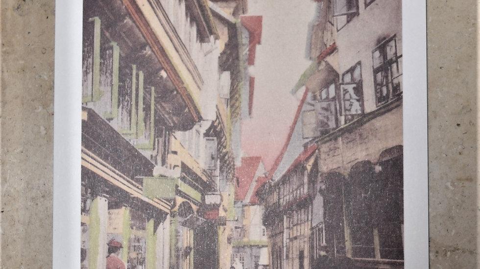 3 reprinted vintage postcards: Meinhardshof, Braunschweig