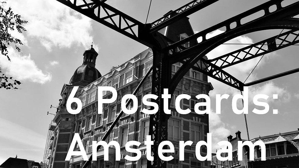 Set of 6 postcards: Amsterdam