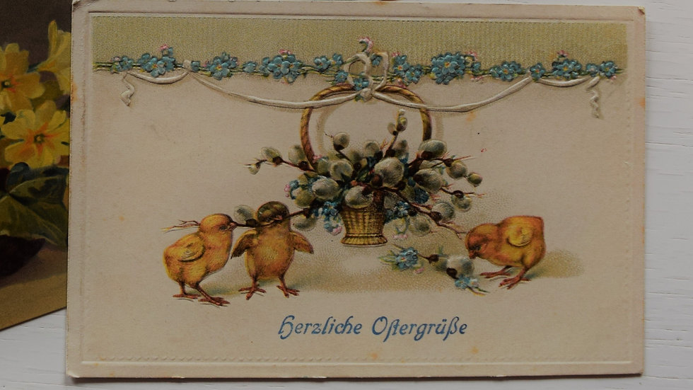Reprinted vintage Easter greeting card (with chicks)