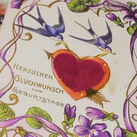 Romantic birthday greeting card