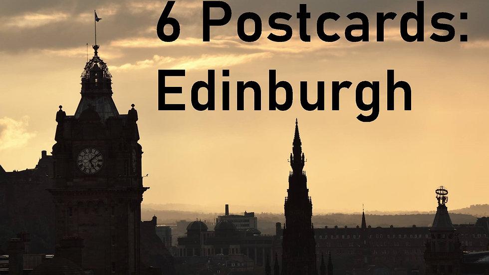 Set of 6 postcards: Edinburgh