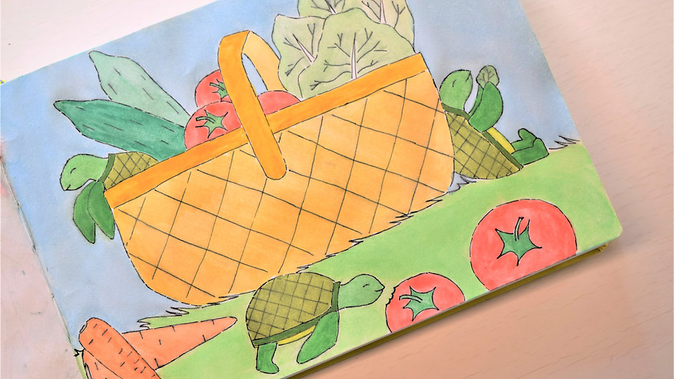 """Greeting Card: """"Turtles on a Picnic"""""""