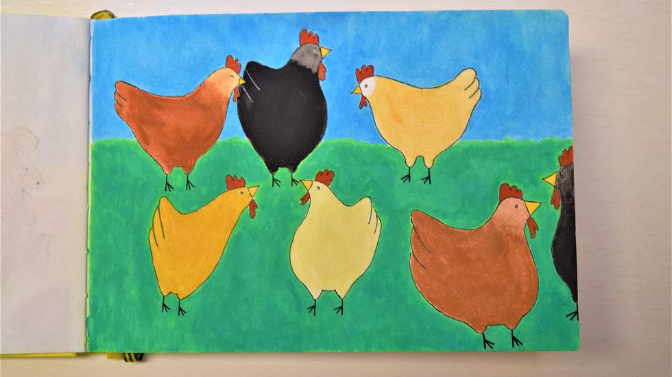"""Greeting Card: """"Chickening Around"""""""