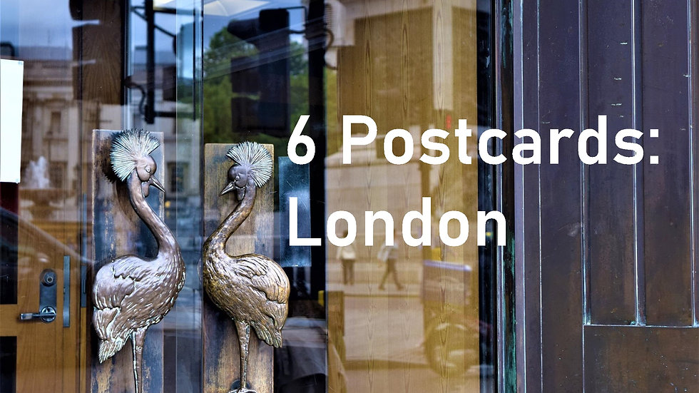Set of 6 postcards: London
