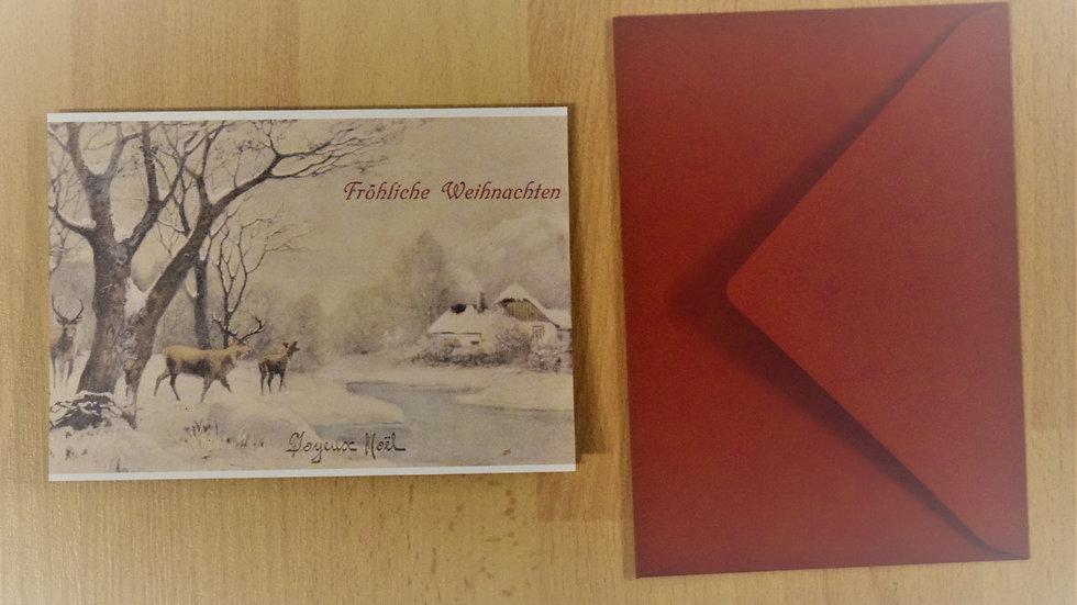 Reprinted vintage Christmas greeting card