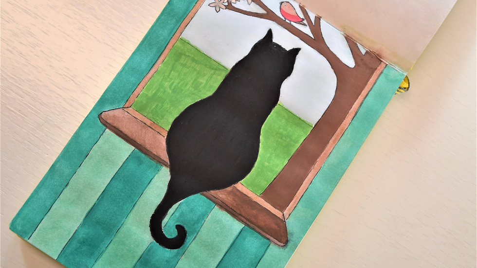 """Greeting Card: """"Cat at the Window"""""""