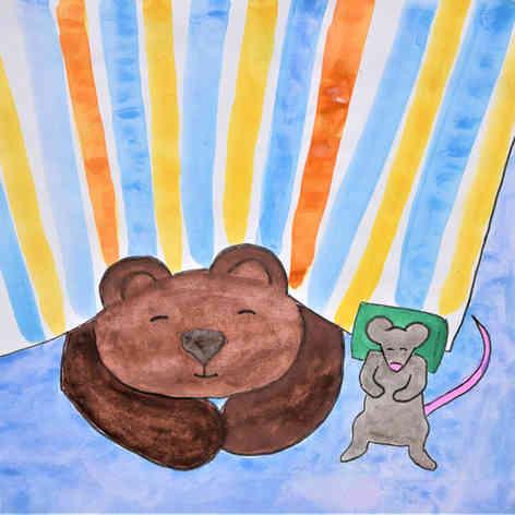 Bear & Mouse sleeping
