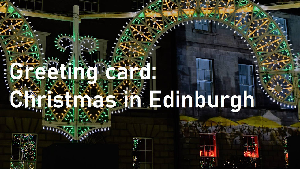 Greeting card: Christmas in Edinburgh