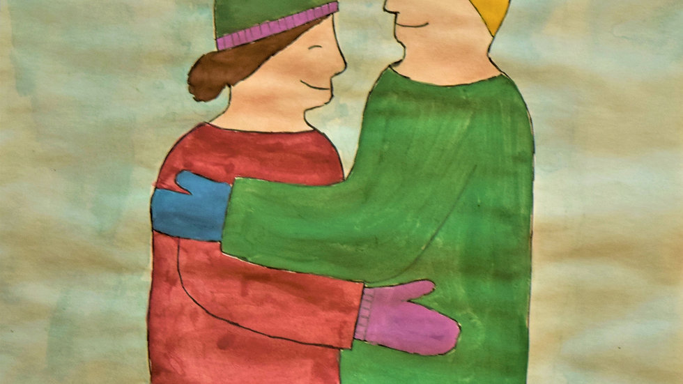 "Greeting card: ""Winter Hug"""