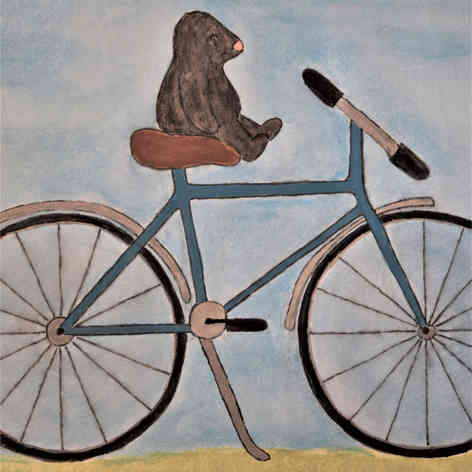 Mole on Bicycle