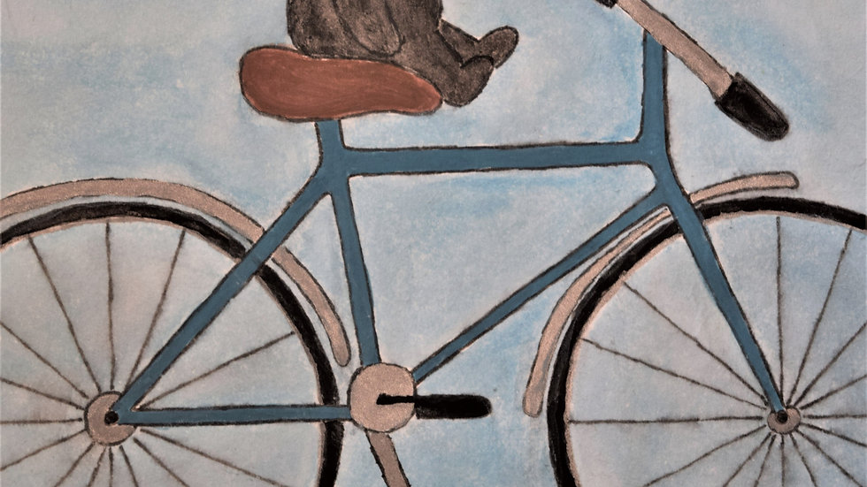 """Greeting Card: """"Mole on Bicycle"""""""