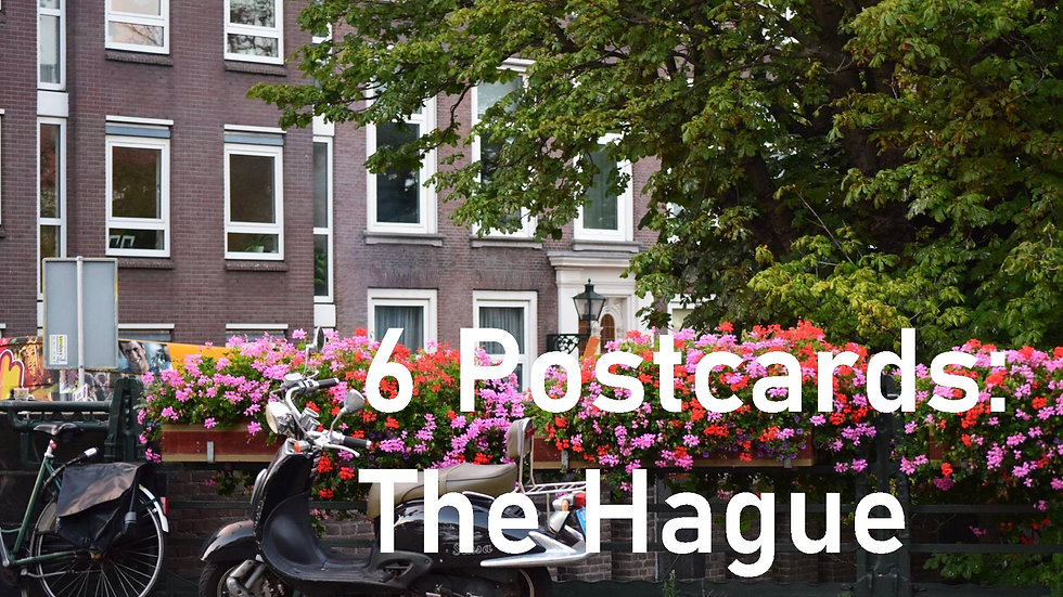 Set of 6 postcards: The Hague