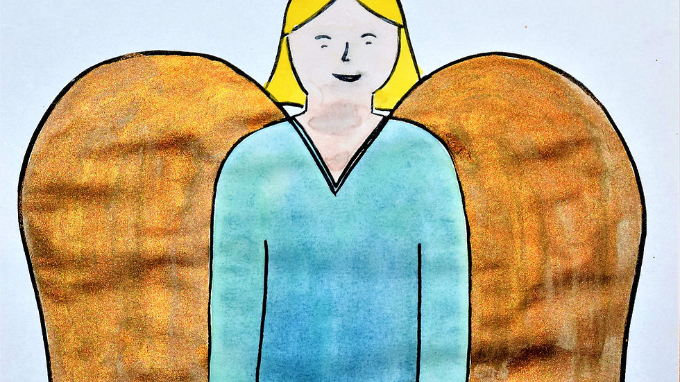 "Greeting card: ""Guardian Angel"""