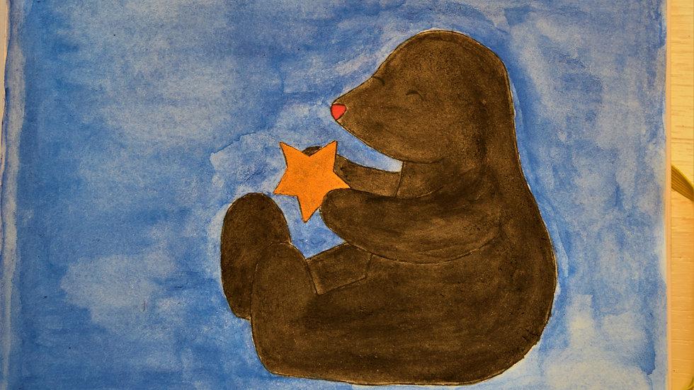 "Greeting Card: ""Mole has a Little Star!"""