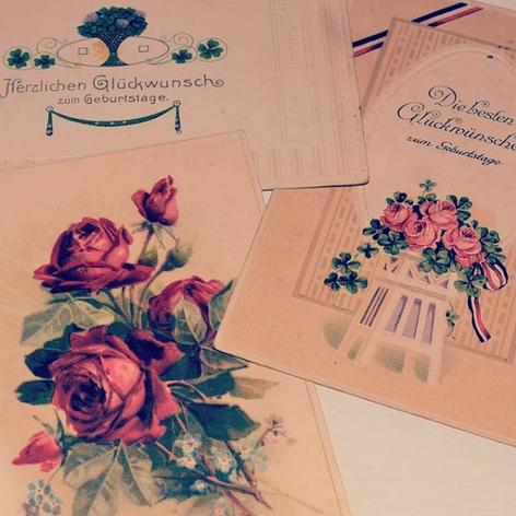 Classical birthday postcards