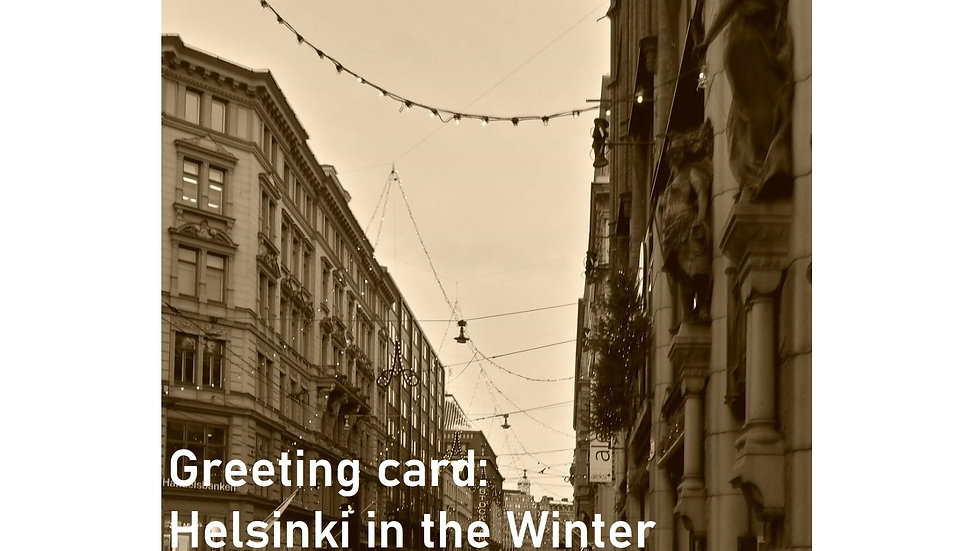 Greeting card: Helsinki in the Winter