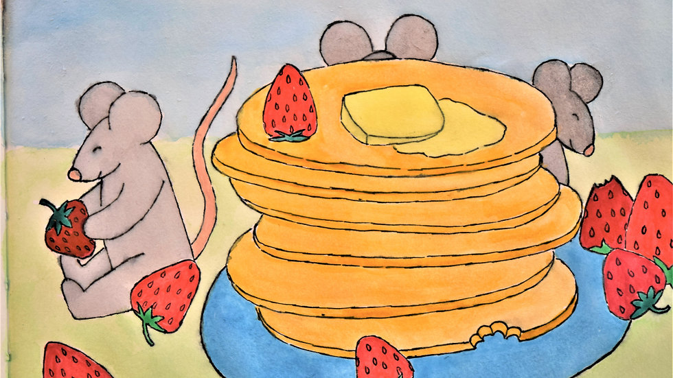 """Greeting Card: """"Brunch with the Mouse Family"""""""