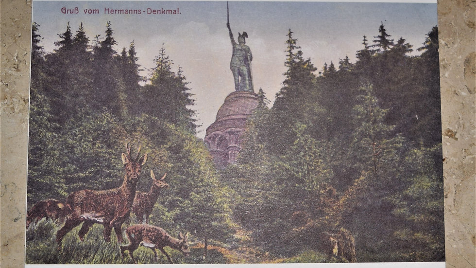 3 reprinted vintage postcards: Hermann Monument / Hermannsdenkmal