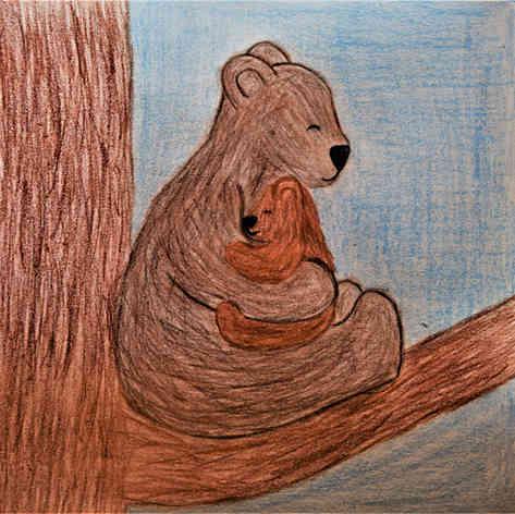 "Illustrated card | ""Bear Hug"""