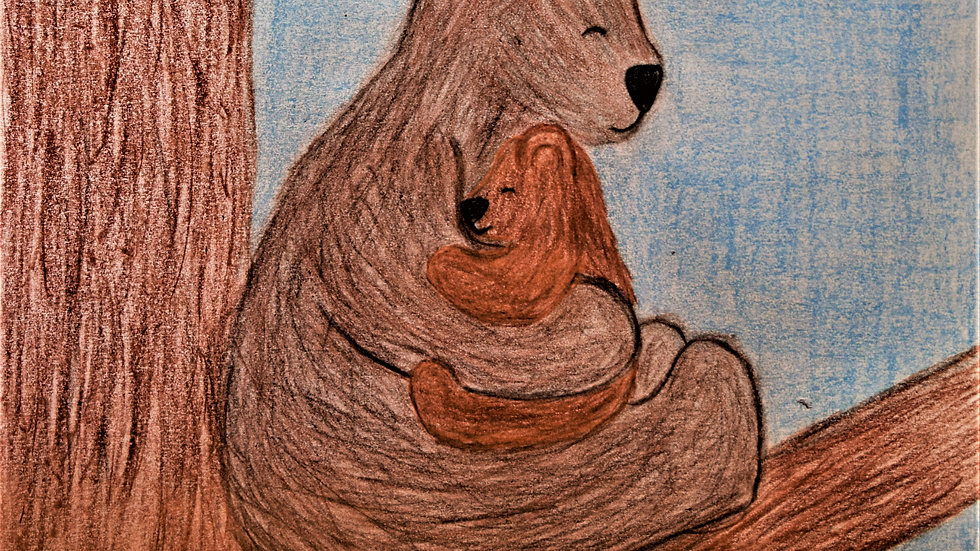 "Greeting card: ""Bear Hug"""