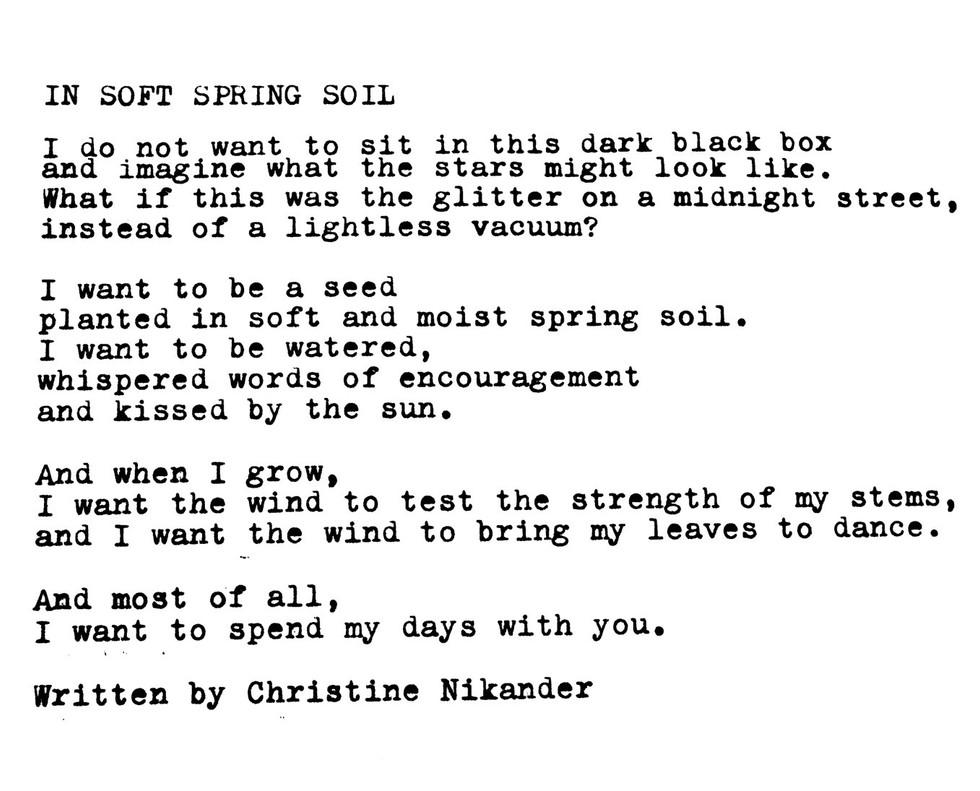 In Soft Spring Soil