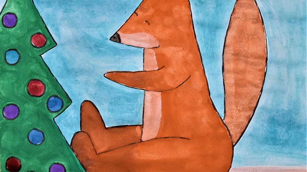 "Greeting card: ""Fox & Tree"""